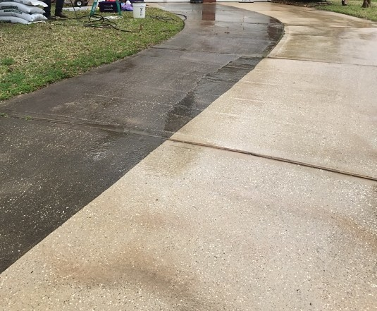 concrete cleaning, driveway cleaning, clean driveway