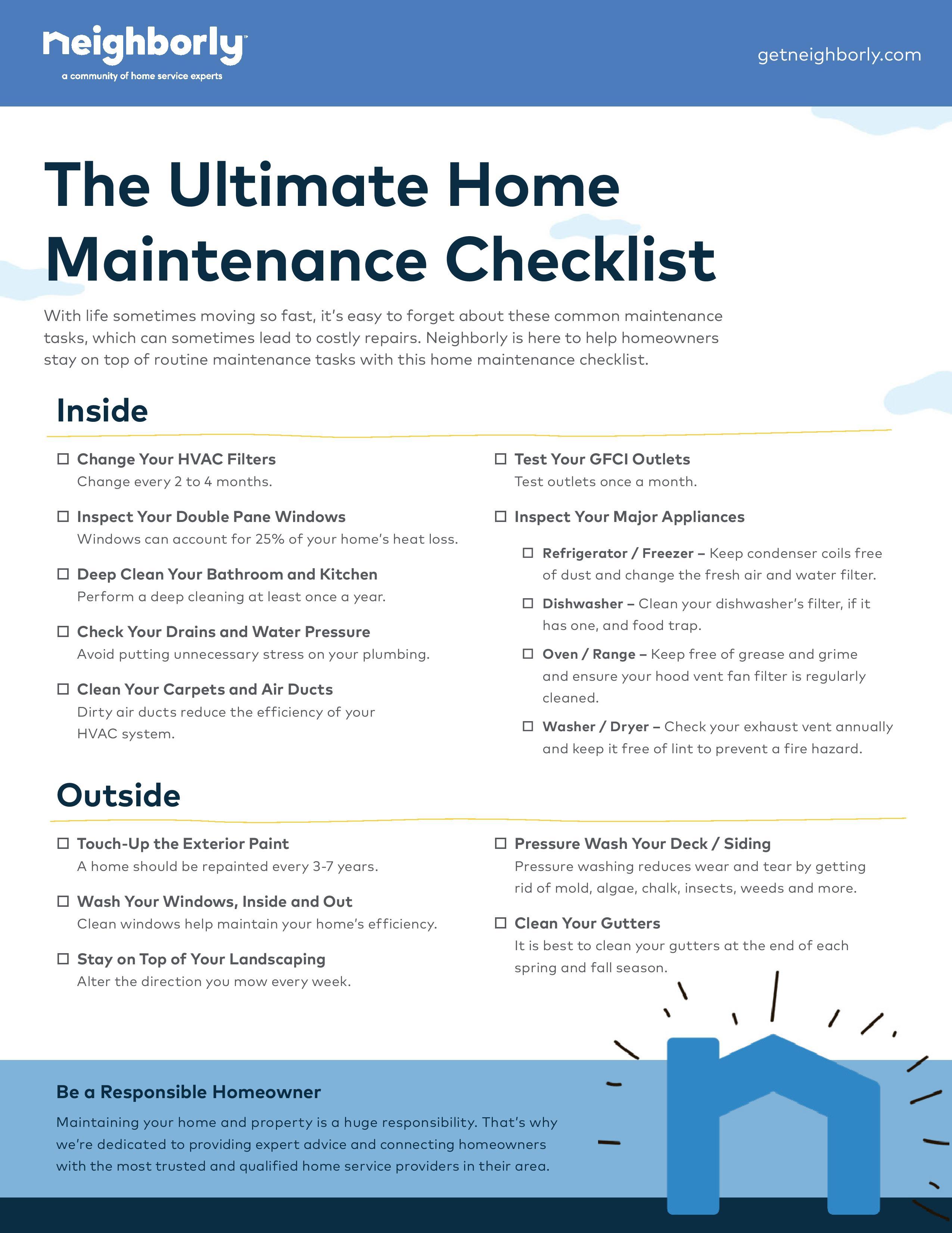 Oneupweb_Neighborly_MaintenanceChecklist.3)-page-001 - Window Genie Blog