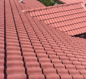 After cleaning a tile roof in Boca Fl