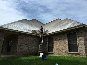 roof washing before