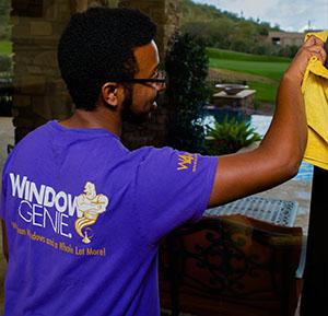 WG Technician Cleaning Windows
